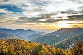 Shenandoah mountains sunset