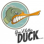 vintage cartoon duck