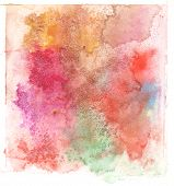 colorful watercolor splash white background