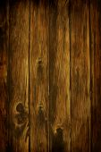 stock photo of wood  - Dark Rich Wood grain texture background with knots and strong lines - JPG