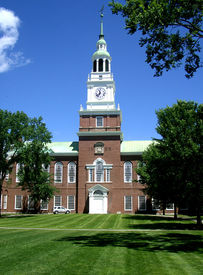 pic of dartmouth  - Baker Library on the campus of Dartmouth College in Hanover - JPG