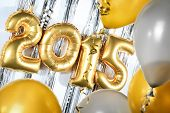New Year 2015 decorated with balloons