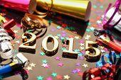 New year 2015 decoration,Closeup.
