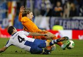BARCELONA - JAN, 21: Luka Modric of Real Madrid during the Spanish Kings Cup match between Espanyol