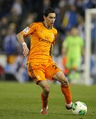 BARCELONA - JAN, 21: Angel Di Maria of Real Madrid during the Spanish Kings Cup match between Espany