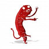 foto of gross  - cartoon gross little monster - JPG