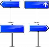 Blue Signpost Set