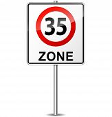 Speed Limit Zone Sign