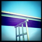 Instagram filtered image of a bridge over the Currituck Sound, North Carolina