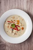 picture of gai  - closeup of a tom kha gai soup - JPG
