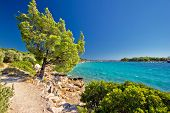 Idyllic Turquoise Beach In Croatia