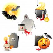 5 highly detailed Halloween icons