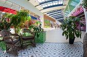 Samara, Russia - August 30, 2014: Inside Of The Samara Hypermarket Ambar.  The One Of Largest Shoppi