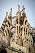 Barcelona, Spain - July 10, 2014: La Sagrada Familia - The Impressive Cathedral Designed By Gaudi, W