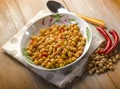 chickpea with hot chili pepper
