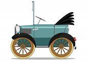 Funny vintage car