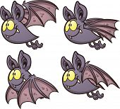Bat flight cycle. Vector clip art illustration with simple gradients. Each on a separate layer.