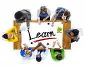 Multiethnic Group of People Discussing About Learn