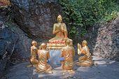 Buddha And His Disciples In Luang Prabang