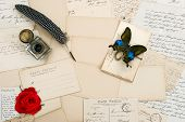 Old Letters, Vintage Postcards, Rose Flower, Butterfly