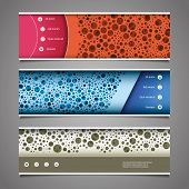 Banner or Header Design with Abstract Colorful Dotted Pattern