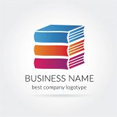 Vector books logotype isolated on white background