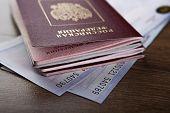 Passport In The Train Tickets