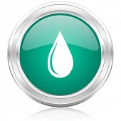 water drop internet icon