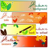 Autumn Labels With Fields For Text