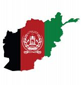 Afghanistan Map Flag