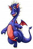 Illustration of a blue dragon