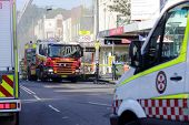 Fire And Ambulance Crews Attend Shop Blast Tragedy