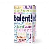 Talent Word On Product Box