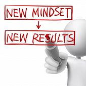 New Mindset To New Results Written By 3D Man