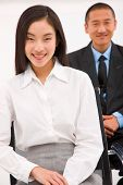 Close-up Of Smiling Young Businesswoman