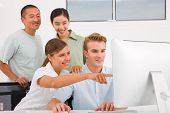 Successful Businesspeople Working Togetherness In Meeting