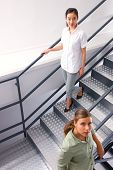 High Angle View Of Two Businesswomen