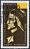 GERMANY - CIRCA 1979: a stamp printed in Germany shows Dante Alighieri Italian Poet circa 1979