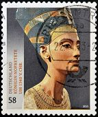 GERMANY - CIRCA 2013: A stamp printed in Germany shows the queen of the Egypt Nefertiti circa 2013