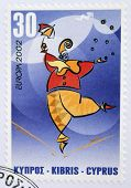 CYPRUS - CIRCA 2002: A stamp printed in Cyprus dedicated to circus circa 2002