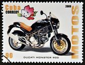 CUBA - CIRCA 2009: A stamp printed in Cuba dedicated to the motorbikes shows Ducati Monster 900