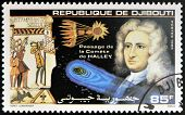 DJIBOUTI - CIRCA 1986: stamp printed in Djibouti shows Halleys Comet circa 1986
