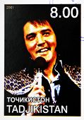 TAJIKISTAN - CIRCA 2001: stamp printed in Tajikistan shows Elvis Presley circa 2001