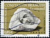 FRANCE - CIRCA 2006: A stamp printed in France shows Sculptures by Constantin Brancusi circa 2006
