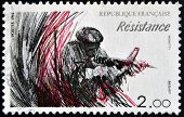 FRANCE - CIRCA 1984: A stamp printed in France dedicated to Resistance circa 1984