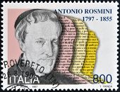 ITALY - CIRCA 1997: stamp printed in Italy shows Antonio Rosmini Philosopher circa 1997