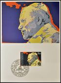 LIECHTENSTEIN - CIRCA 1983: A stamp printed in Liechtenstein shows Pope John Paul II circa 1983