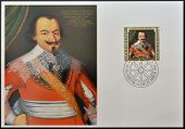 LIECHTENSTEIN - CIRCA 1982: Stamp printed in Liechtenstein dedicated to portraits of Famous visitors