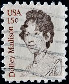 UNITED STATES OF AMERICA - CIRCA 1980: stamp printed in USA shows Dolley Madison circa 1980