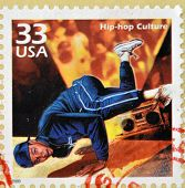 UNITED STATES OF AMERICA - CIRCA 2000: A stamp printed in USA showing an image of a break dancer